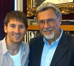 Con Lionel Messi
