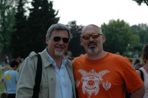 Con Silvio Leonardi