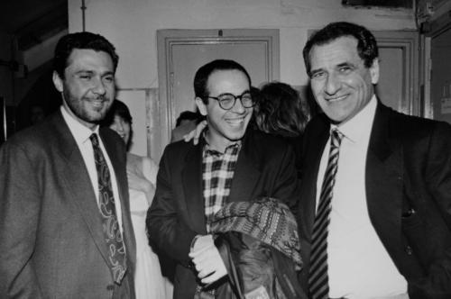 con Tornatore e Cerami, 1990