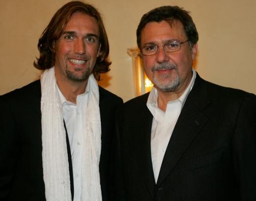 con Gabriel Batistuta, 2006